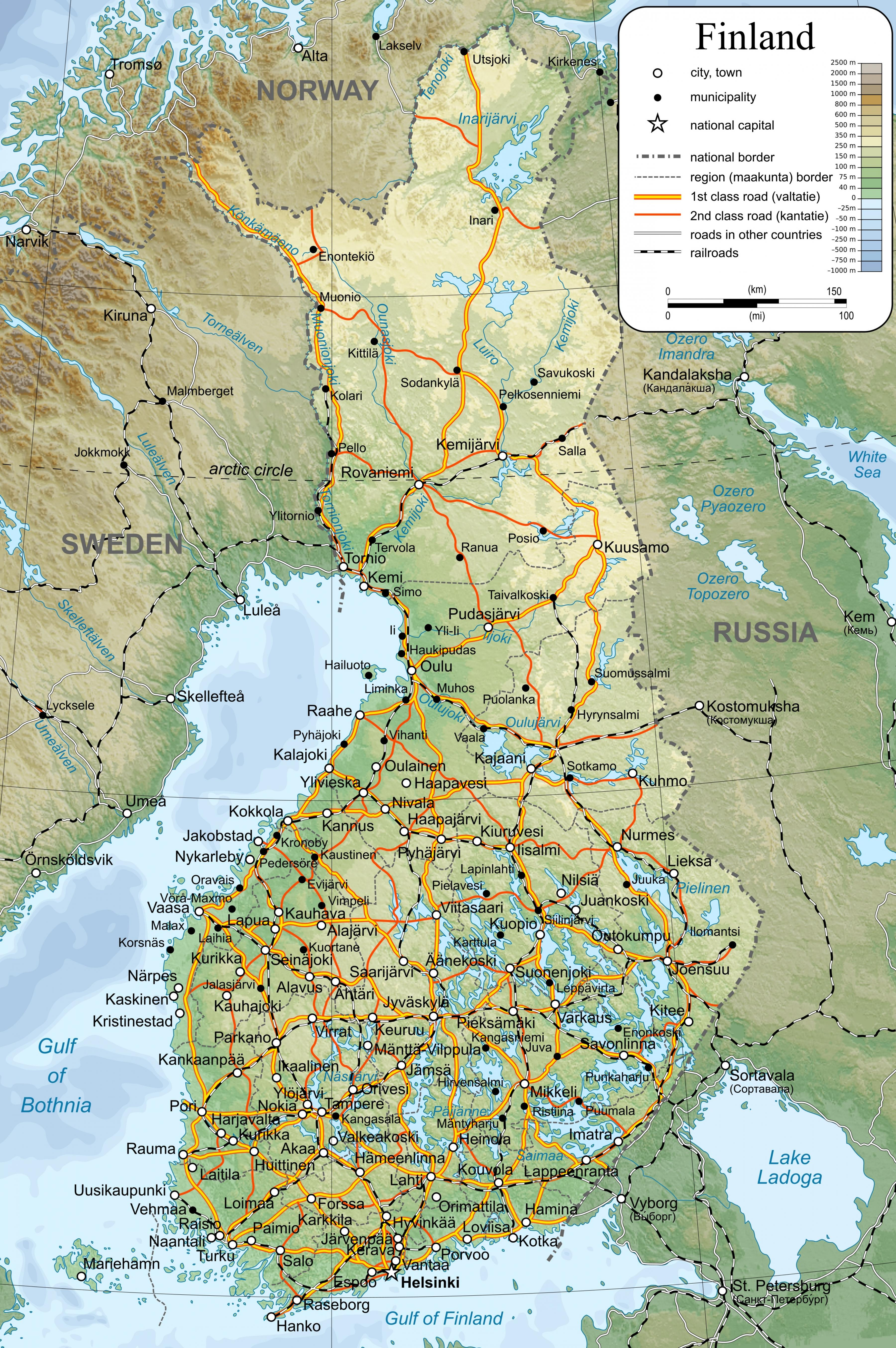 Finland map - Finland on world map (Northern Europe - Europe)