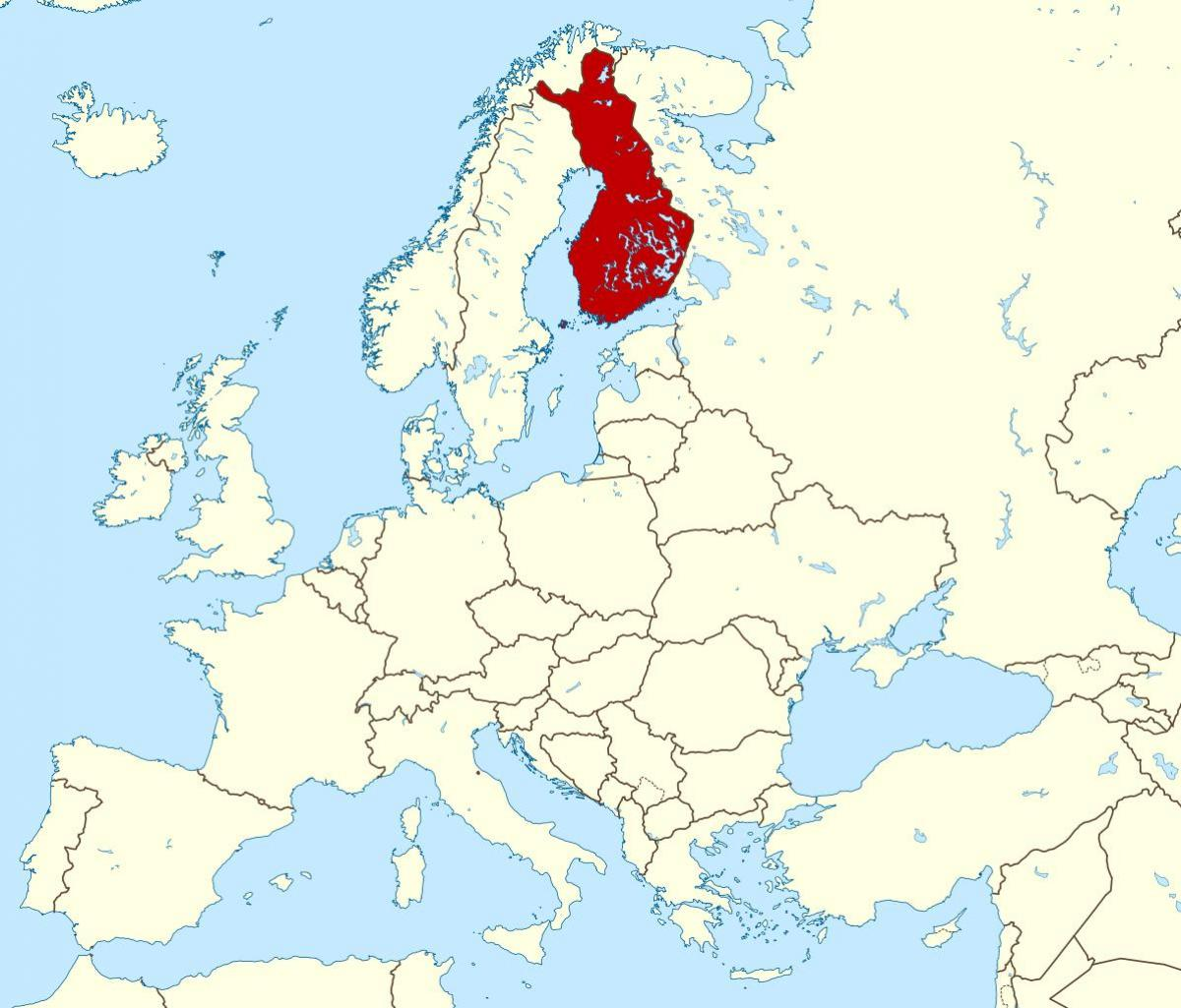 Finland location on world map - World map showing Finland (Northern ...