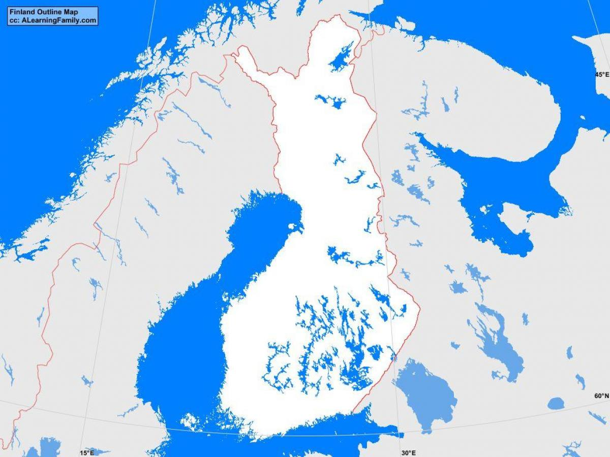 Finland map outline - Map of Finland outline (Northern ...