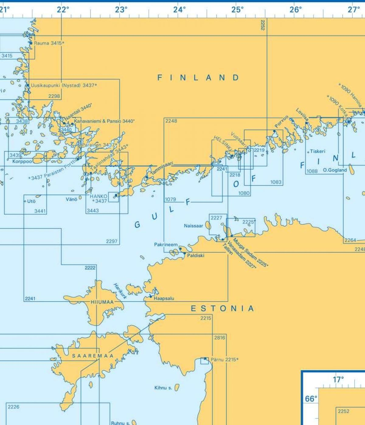 Map of gulf of Finland