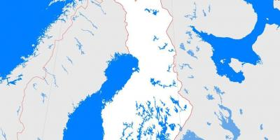 Map of Finland outline