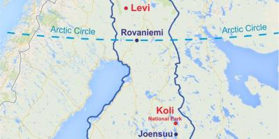 Finland levi map